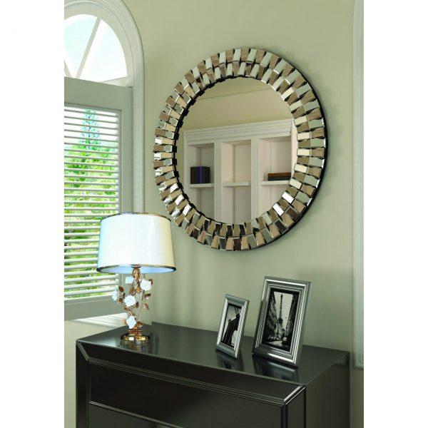 آینه دکوراتیو طرح دایره ای ونیزی